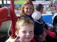 En famille dans le bateau