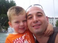 Avec papa à Béziers