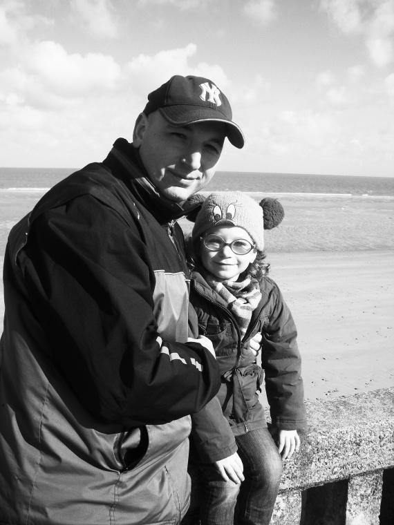 Valentine et papa Normandie