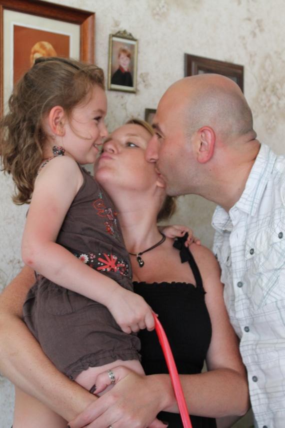 Valentine, papa et maman