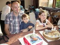 Léa, Andrea et papa