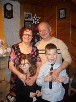 Valentine, papy José, mamie Santina et moi Noël 2013 (45)