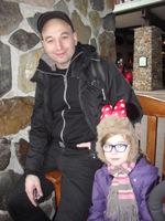 Valentine et papa Disneyland