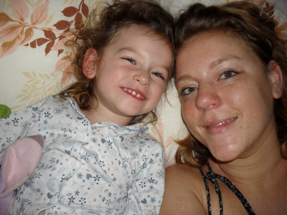 Valentine et maman au réveil