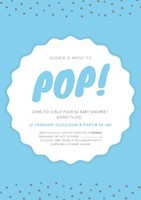 Pink and Blue Dotted Baby Shower Poster