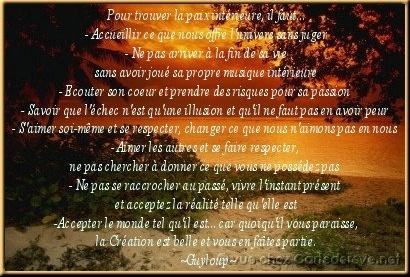 Paix int rieur dim54 diane doctissimo for La paix interieur