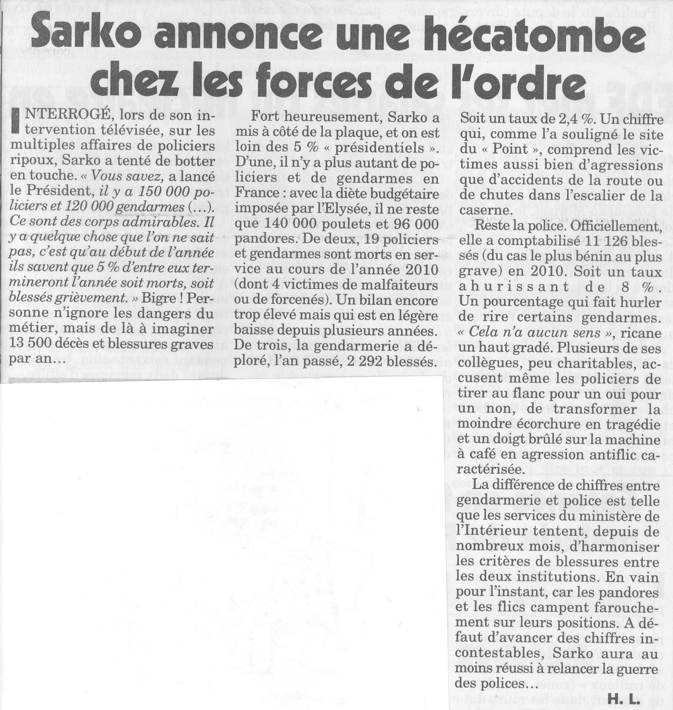 hécatombe forces ordre