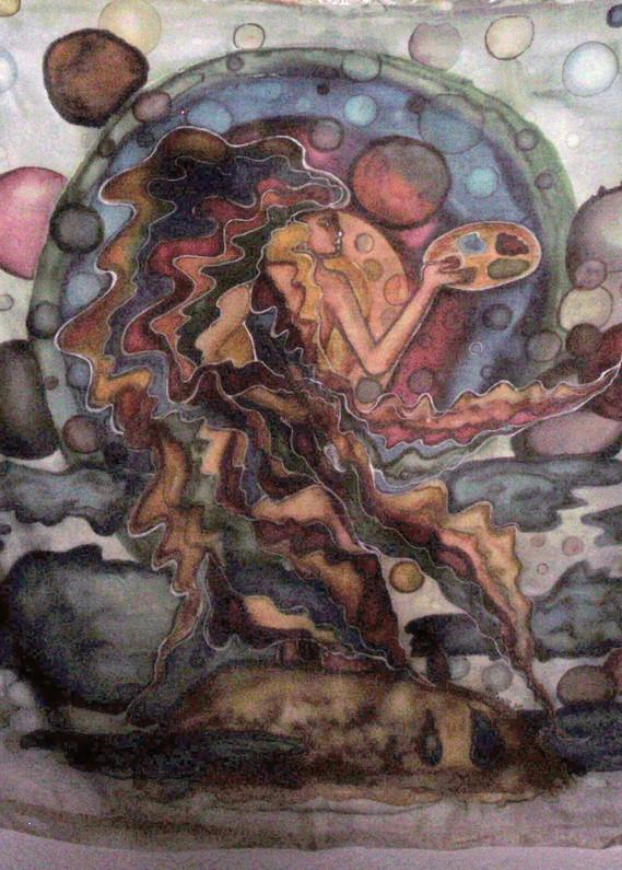 femme peint univers