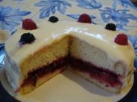 Gâteau d'anniversaire à la compotée de prunes