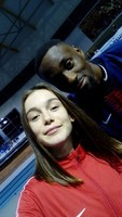 yvana 2018 avec teddy tamgho champion du monde triple saut 2013 moscou
