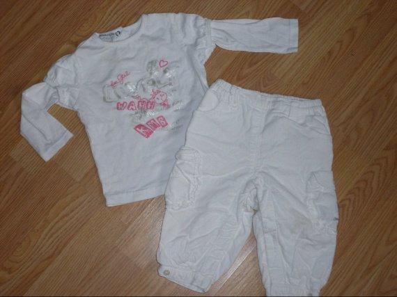 pantalon velour 3,50e-tricot blanc 3e