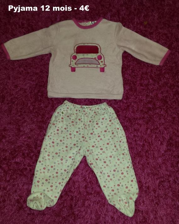 pyjama KIABI 12 mois - 4€