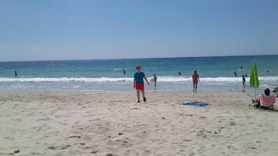 lilian a la plage