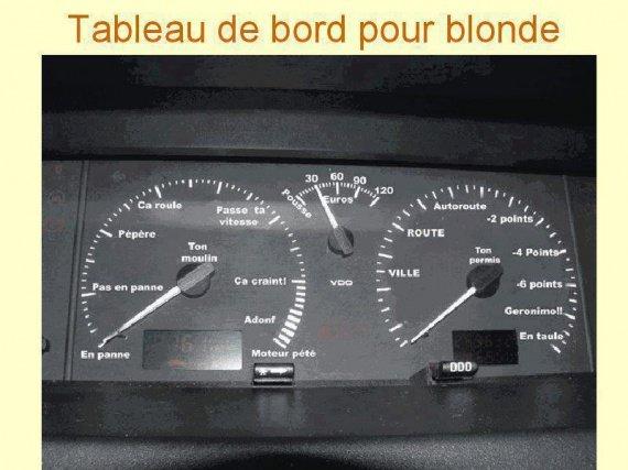 tableau de bord pour blonde