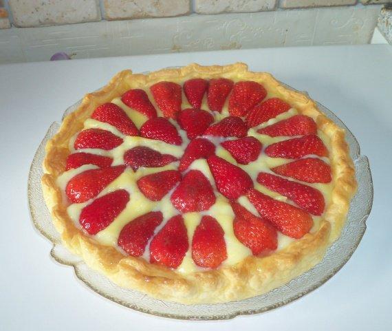 tarte aux fraises!