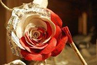 rose de papier