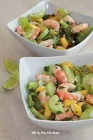salade de crevette avocat et mangue