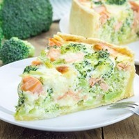 quiche brocolis saumon