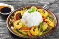 curry vert au crevette