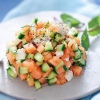 tartare de melon feta conconbre