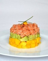 tartare saumon mangue avocat