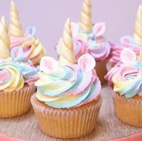 cup cake arc en ciel