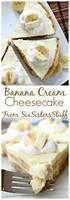 cheese cake banane