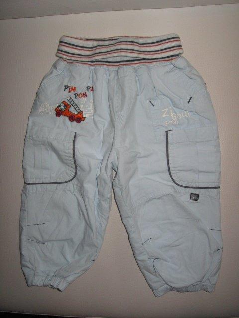 Pantalon bleu ciel pompier ceinture elastique 4€