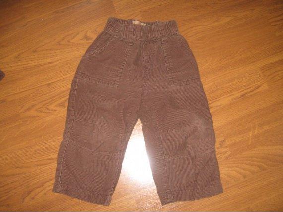Pantalon velour marron 1€