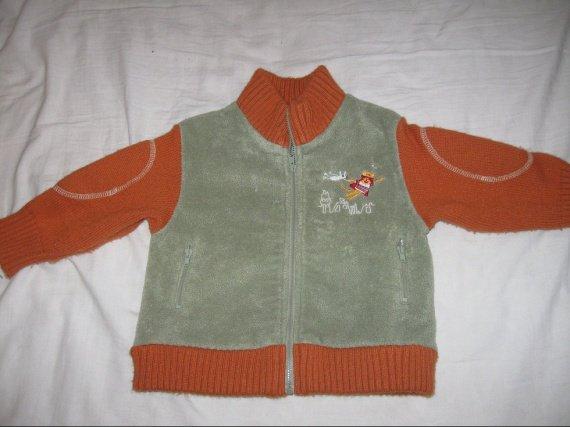 donne veste zipé laine et polaire 18mois 3€ 18MOIS