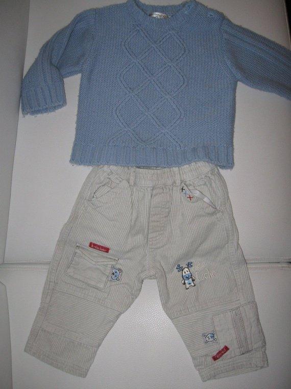 ensemble pull+pant velour 4€ ( le pull est un peu bouloché)-50%=2€
