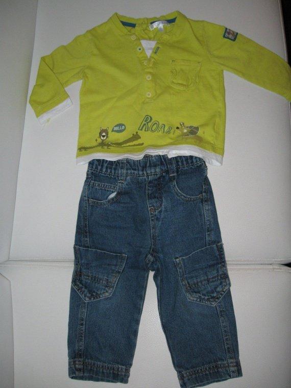 ensemble jean+tee shirtML 6€