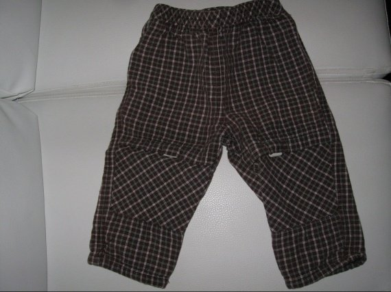 Pantalon carreaux marron 2€