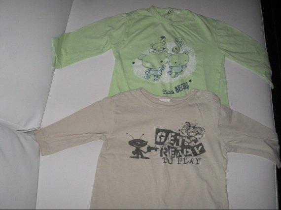 2 tee shirts ML 3€-50%=1,50€