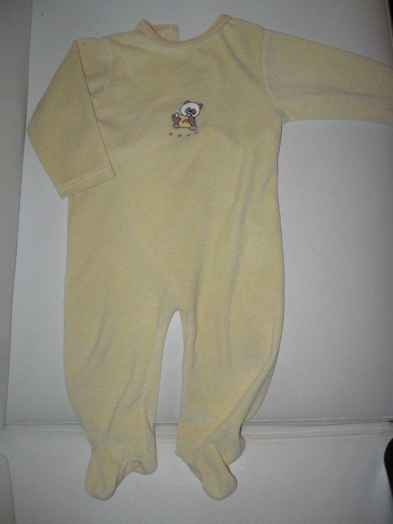 pyjama velour 2€-50%=1€