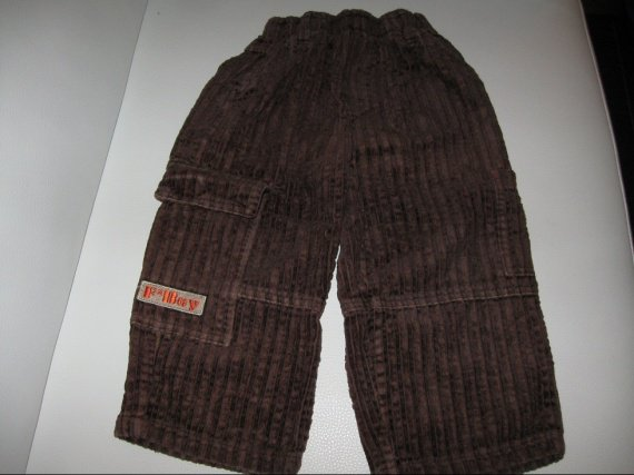Pantalon velour marron 1€ 2ANS