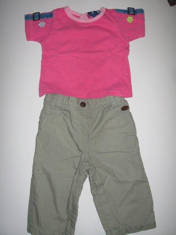 Tee shirt+pantalon 5€