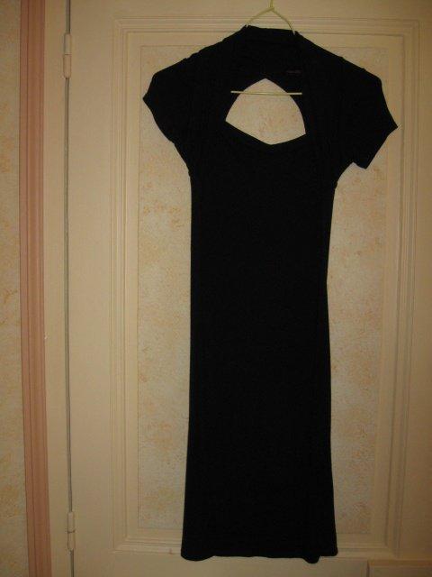 magnifique robe soft noir T36 ouverture torse et dos 5€ NON SOLDE