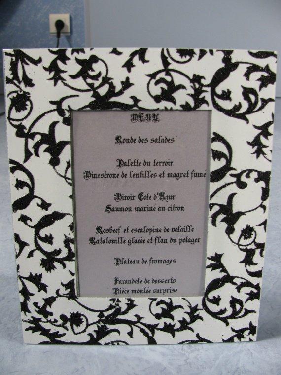 Cadre menu