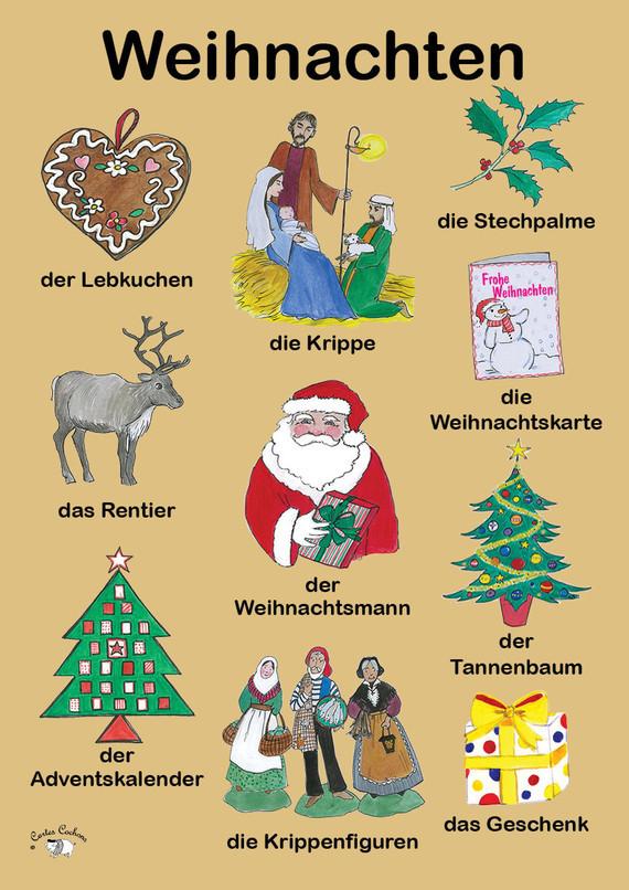 Weihnachten Wortschatz Deutsch Lernen German Allemand