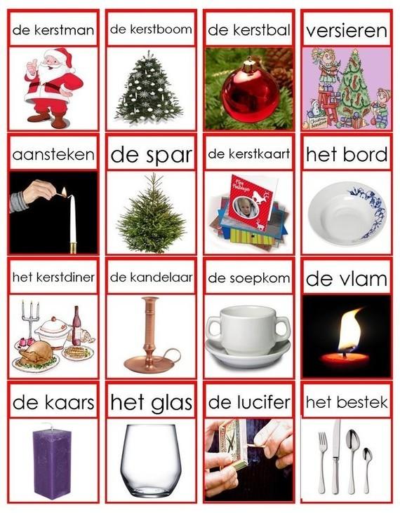 Woordkaarten - Kerstmis