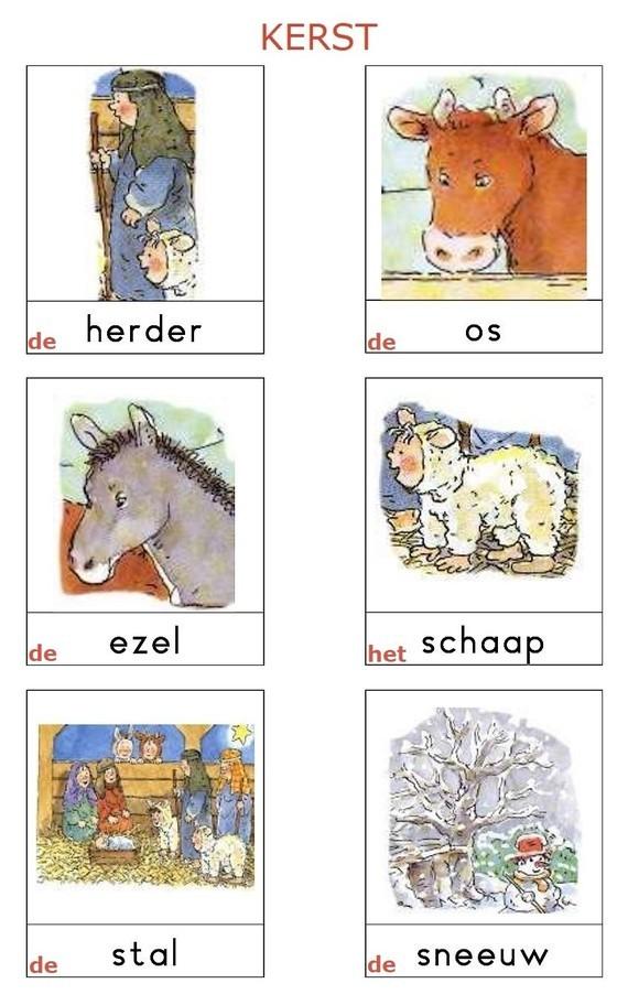 Woordkaarten - KERST (02)