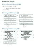 Het lidwoord (het artikel) - de regels