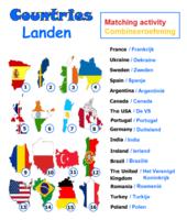 Countries (matching activity) - Landen (combineeroefening)