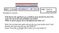 Voegwoorden van vergelijking / Conjunctions of comparison