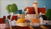 Ieder huisje heeft zijn kruisje (schilderij)