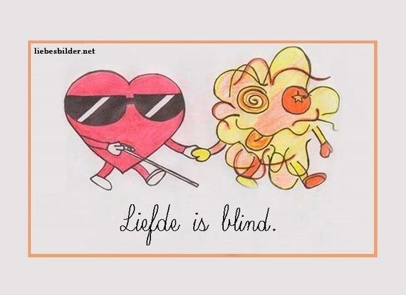 liefde is blind. - nederlandse gezegden, spreekwoorden; expressions