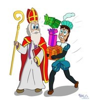 Sinterklaas met Roetpiet