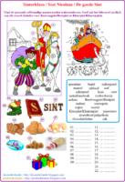 Combineeroefening : Sinterklaas - Sint Nicolaas - De goede Sint