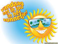 Vandaag zet ik jou in het zonnetje !